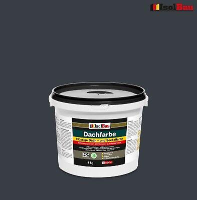 Dachfarbe elastisches Polymermembran Sockelfarbe Dachlack 4 kg Anthrazit