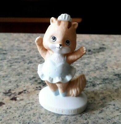 Vintage Enesco Nutcracker Suite Porcelain Ballerina Cat Figurine