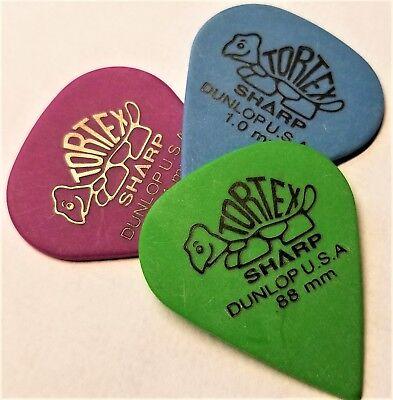 Dunlop Tortex Sharp Guitar Picks  .88,1.0,1.14 mm  3 Picks for sale  Shipping to India