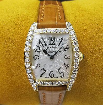Franck Muller Cintree Curvex 18kt Yellow Gold Diamond Watch 2251