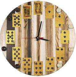WOODEN WALL HANGING HOME CLOCK FINE ASH-TREE WOOD COOL WOODEN GIFT UNIQUE DESIGN
