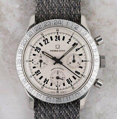 Vintage Universal Geneve Aero-Compax Chronograph Wristwatch 890101/01 RARE NR