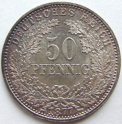 TOP! 50 Pf 1877 J in fast STEMPELGLANZ SEHR SELTEN !!!