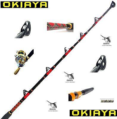 """OKIAYA COMPOSIT 80-130LB """"THE BOSSHOSS"""" SALTWATER BIG GAME ROLLER ROD"""