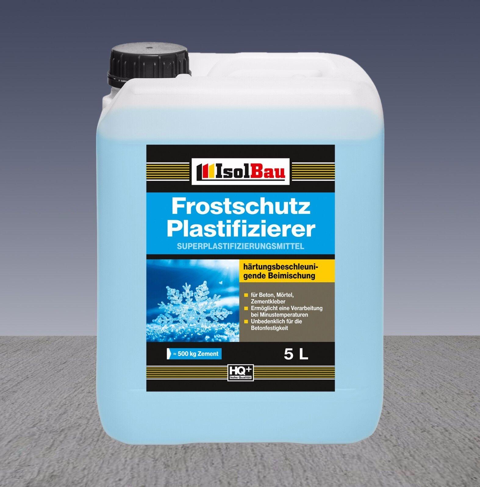 5L Beton-Zusatzmittel Frostschutz Plastifizierer Betonverflüssiger Verflüssiger
