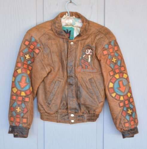 Vintage J.D.I. Leather Jacket - Betty Boop - Bomber Style - Wms. XS Petite