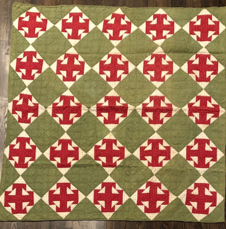 Temperance - 4 Ts Quilt In Red And Green