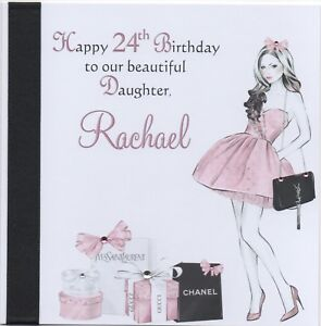 Handmade Personalised Birthday Card Grand Daughter Sister Niece 16th 18th 21st