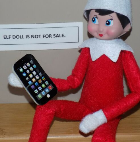 CHRISTMAS ELF PROPS CELL IPHONE TELEPHONE SANTA ON THE SHELF TOY ACCESSORY GAMES