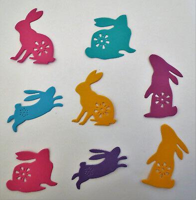 Easter Bunny Silhouette Die Cut Spring 8 pcs Set #1 Cardstock Die Cut Scrapbook](Bunny Silhouette)