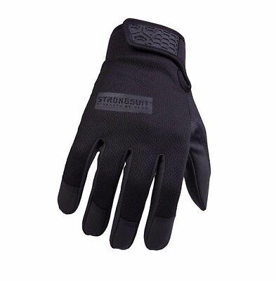 Black Military Glove (STRONGSUIT Black Glove Thin Second Skin Tactical  Phone Military Framer Work)