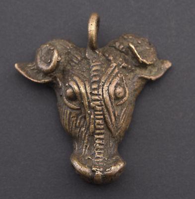 Pendant African Buffalo Ashanti Art Tribal Door Key Bronze Ethnic 26184