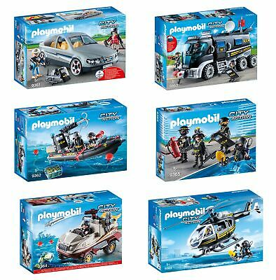 Playmobil City Action Sets -Tactical Unit Helicopter, Truck & More! - FREE P&P!