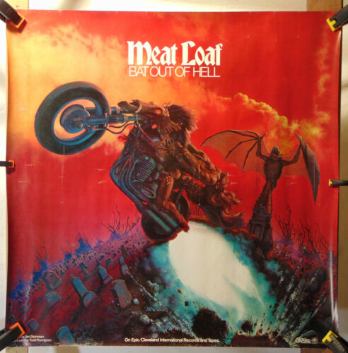 MEAT LOAF--Bat Out Of Hell--Promo Poster