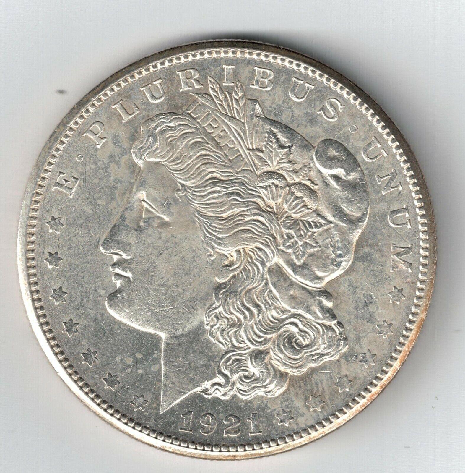 1921 S Morgan Silver Dollar XF/AU Coin Free Shipping 1921S - $40.00