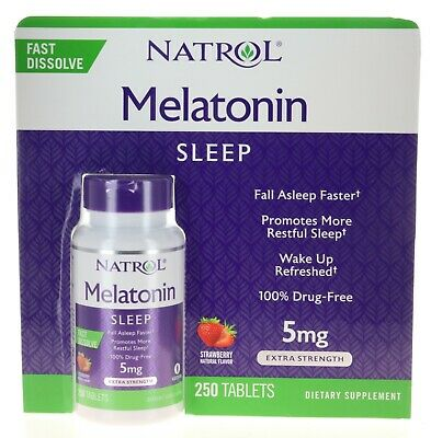 Natrol Melatonin 5 mg - 250 Fast Dissolve Strawberry Flavor Tablets
