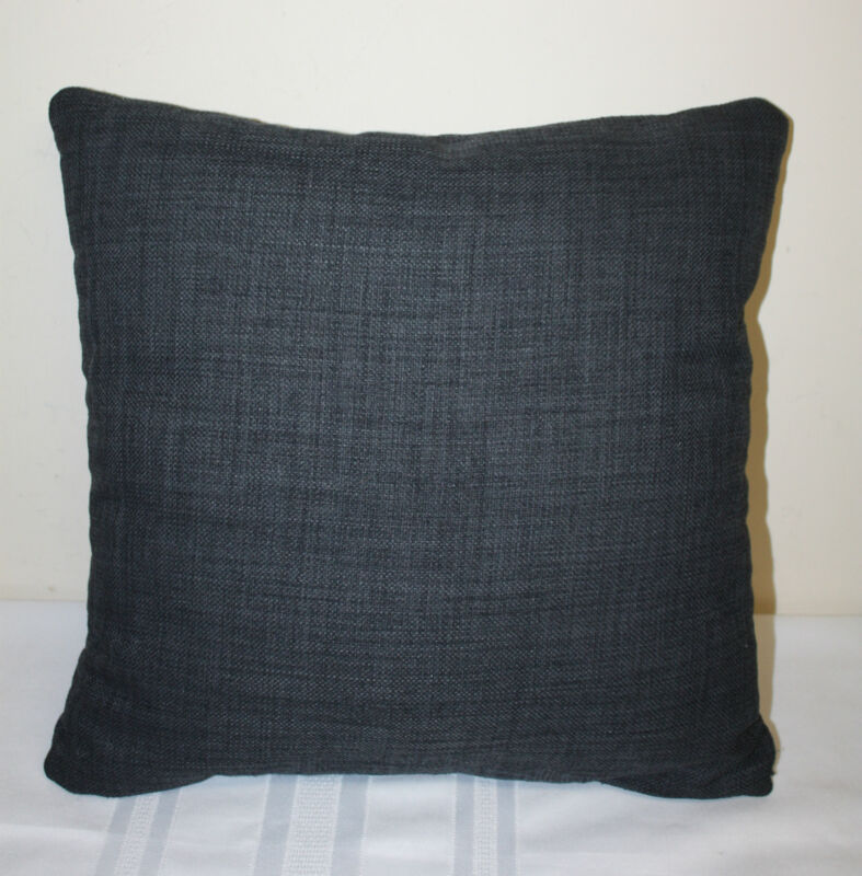 """Decorative Unknown Brand Charcoal Gray Square Accent Pillow 16"""" x 16"""""""