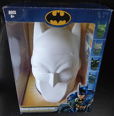 DC Color Your Own DIY Batman Cowl Plastic Head New in Box