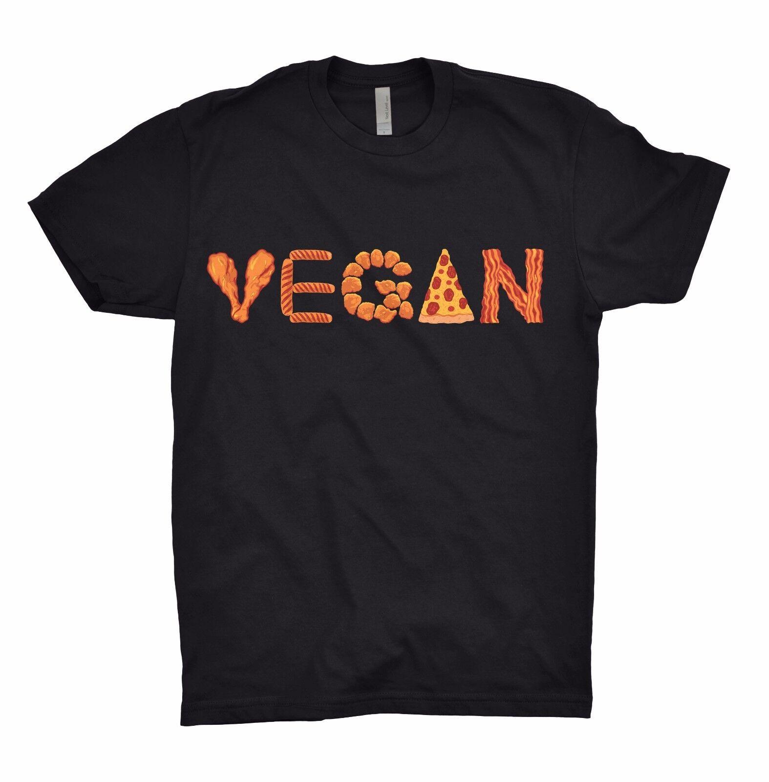 VEGAN T Shirt Diet Animals Are Friends Pizza Funny Chicken Bacon Netflix Avocado