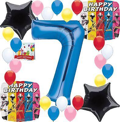 Combined Brands Power Rangers Party Supplies Happy Birthday Balloon Decoratio...