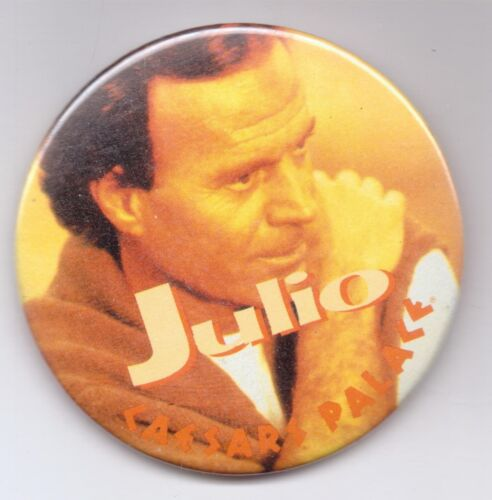 JULIO-CAESARS PALACE-THREE INCHES WIDTH-PINBACK