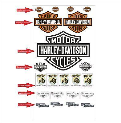 Harley Davidson Logo Autoaufkleber Aufkleber Decals Tuning Sticker Set