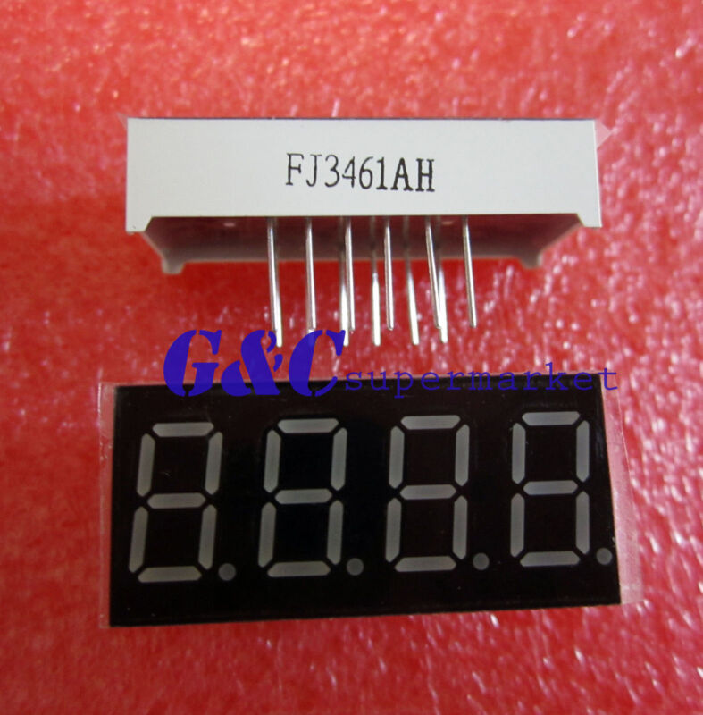 2pcs 0.36 inch 4 digit led display 7 seg segment Common cathode Red GOOD QUALITY