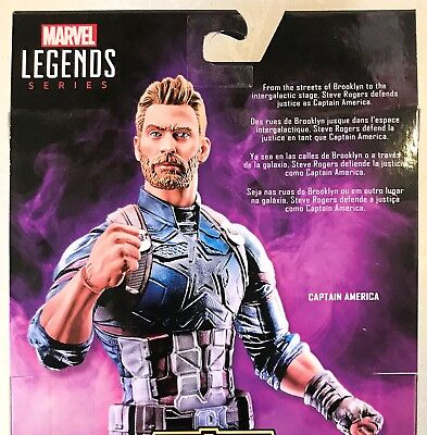 Marvel Legends Avengers Infinity War Captain America Loose (No Thanos Piece)