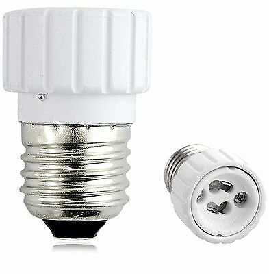 Casquillo Adaptador Conversor rosca E27 a GU10 para bombilla luz LED 4446