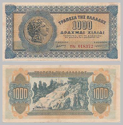 Griechenland / Greece 1000 Drachmai 1941 p117b xf-au