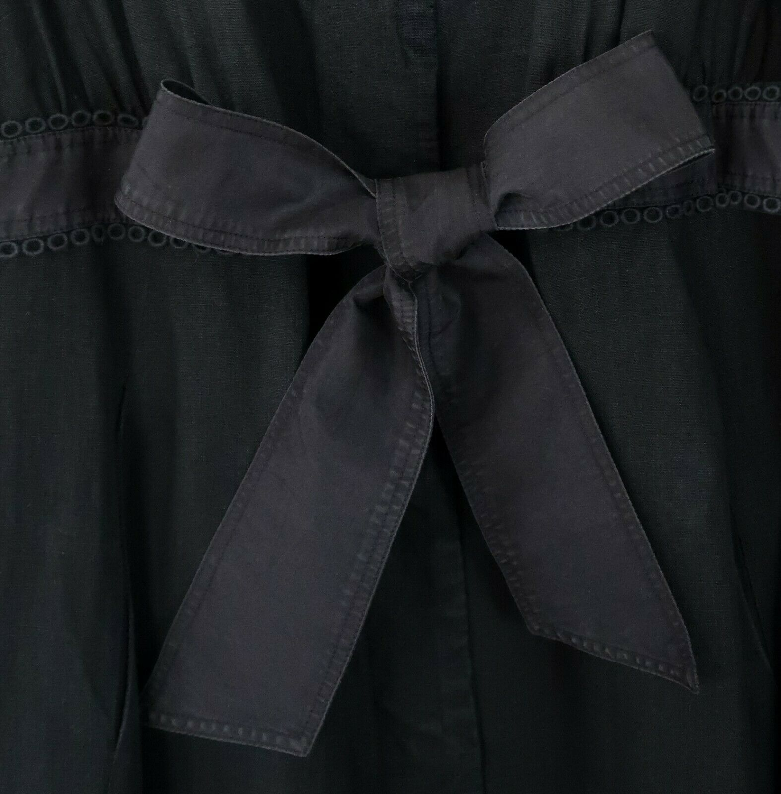 Manteau lin doublÉ by tara jarmon *noir *ruban satin À nouer *new offer 44 €