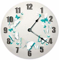 10.5 BUTTERFLY CUTOUTS CLOCK - Large 10.5 Wall Clock - Home Décor Clock - 3193