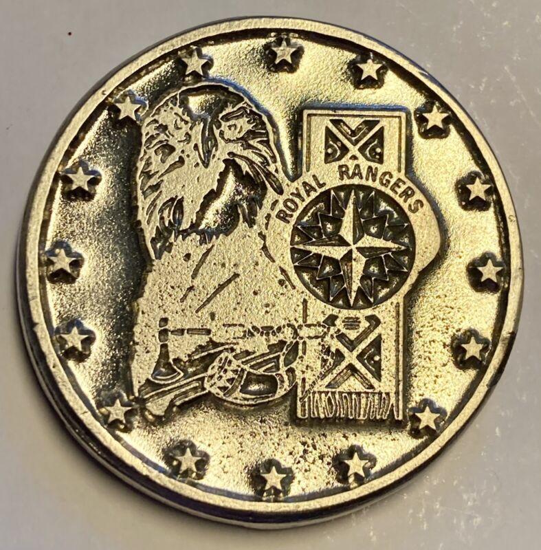 ROYAL RANGERS Heavy Silver Tone Coin Token RR In Appreciation 2.2 Oz