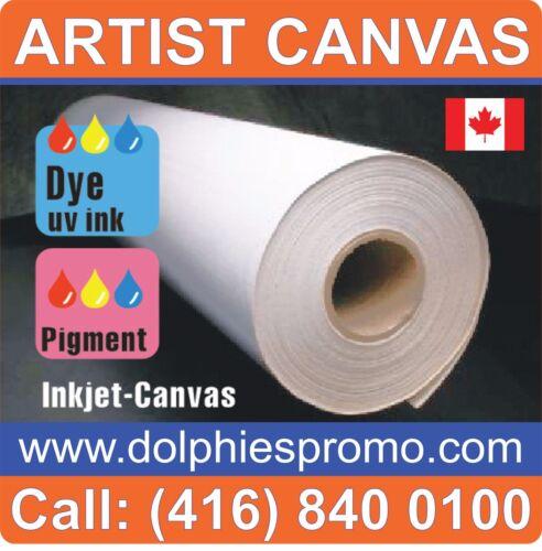 LOT OF 4 ROLLS - ART CANVAS Paper Inkjet Large Wide Format Plotter Matte L60