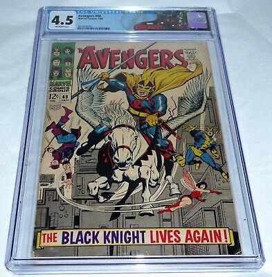 Avengers #48 CGC Universal Grade Comic 4.5 1st Dane Whitman Black Knight Magneto