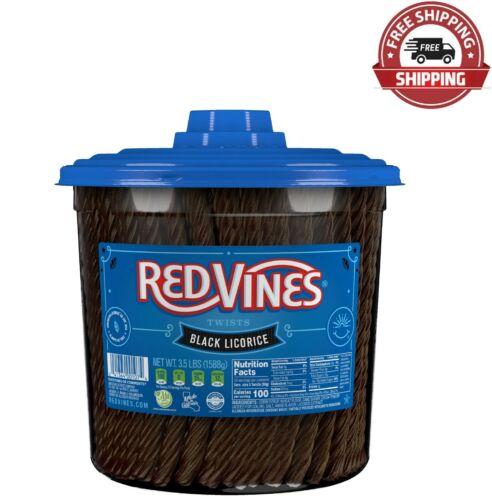 Red Vines Black Licorice Twists, 3.5lb Jar