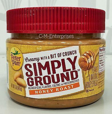 Peter Pan Simply Ground Honey Roast Creamy Peanut & Natural Honey Spread 15 oz
