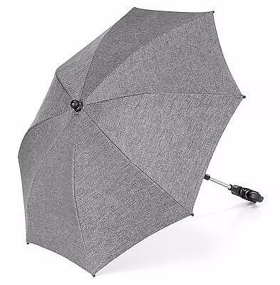 Universal Sonnenschirm Sonnenschutz Kinderwagen Buggy UV Schutz 50+ Melange Grey