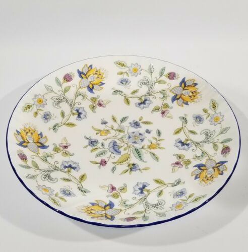 "Minton Haddon Hall Blue Spaghetti Platter, 11"", Bone China Made in England, EUC"