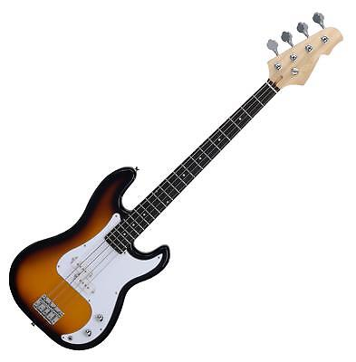 BASSE ELECTRIQUE E-BASS GUITARE JAZZ BLUES 4 CORDES 22 FRETS SUNBURST
