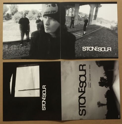 STONE SOUR Rare DOUBLE SIDED PROMO POSTER FLAT for 2002 CD 24x12 USA Slipknot