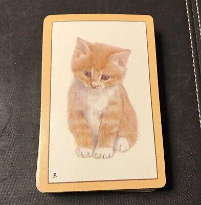 Vintage Kent USA Playing Cards Deck Orange Tabby Cat Kitten Ginger