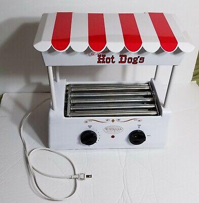 Hot Dog Roller Bun Warmer Nostalgia Heat Machine Cooker Grill Retro Works Good