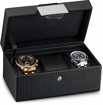 Glenor Co Travel Watch Case   3 Slot Luxury Organizer Box