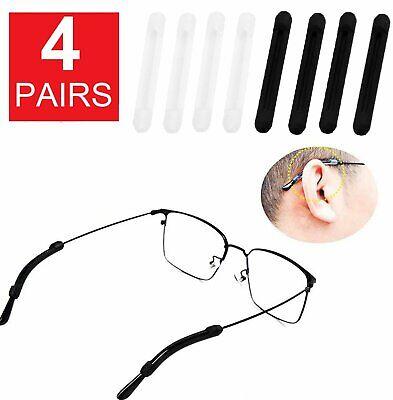 4 Pairs Anti Slip Glasses Ear Hooks Tip Eyeglasses Grip Temple Holder Silicone Health & Beauty