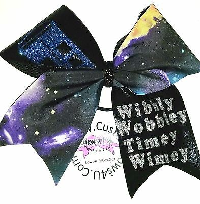 Dr. Who Wibbly Wobbly Timey Wimey Hair Bow