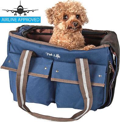 Fashion Canvas Designer Travel Fashion Pet Dog Carrier - Designer Pet Travel Carrier