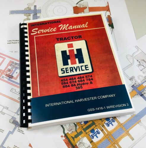 International Harvester 684 784 884 84 Hydro Tractor Factory Service Manual