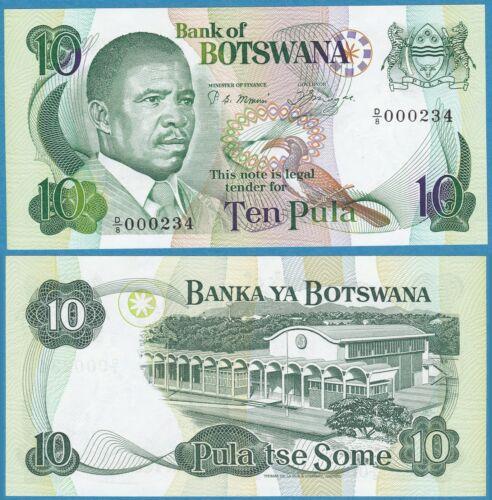 BOTSWANA ND(1982) 10 Pula P-9a GEM UNC - US Seller