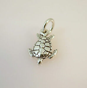 Sterling silver sea turtle ebay 925 sterling silver small sea turtle charm new pendant nautical ocean 925 nt28 aloadofball Image collections